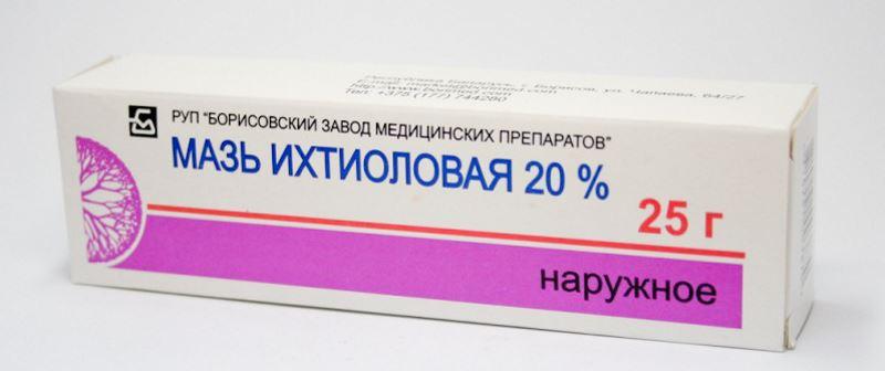 Мази против воспаления и инфицирования