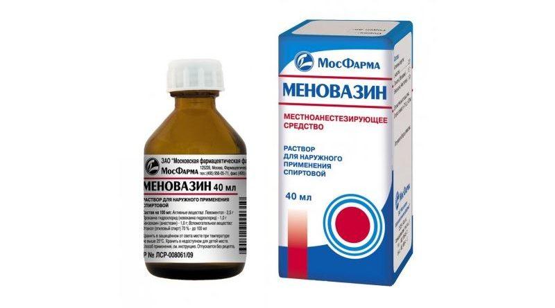 Меновазин: особенности применения при геморрое