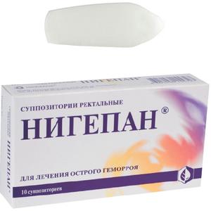 Состав и фармакологические свойства свечей Нигепан