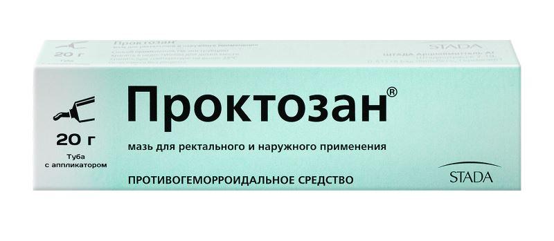 Мазь и свечи Проктозан