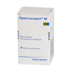 Ректальные суппозитории Проктоседил М