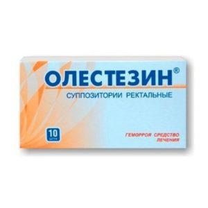 Ректальные суппозитории Олестезин