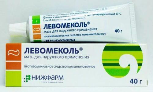 В лечении трещин заднего прохода широко используется мазь Левомеколь, которая состоит из метилурацила и хлорамфеникола