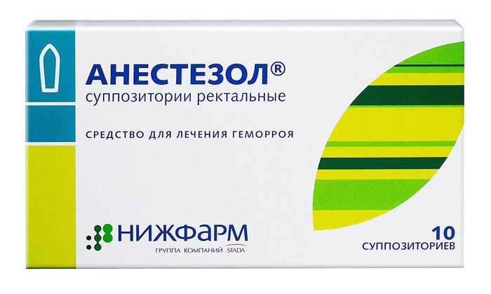 Для борьбы с геморроем, сочетанным с простатитом можно применять Анестезол