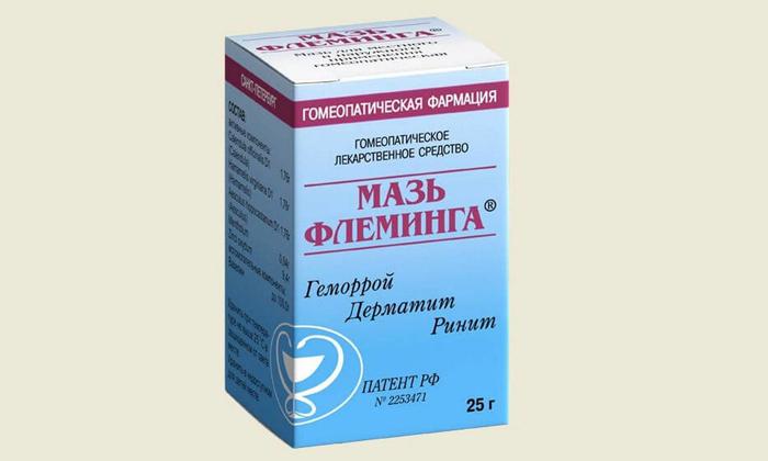 Мазь Флеминга обладает противовоспалительным, венотонизующим, противоотечным и подсушивающим эффектами