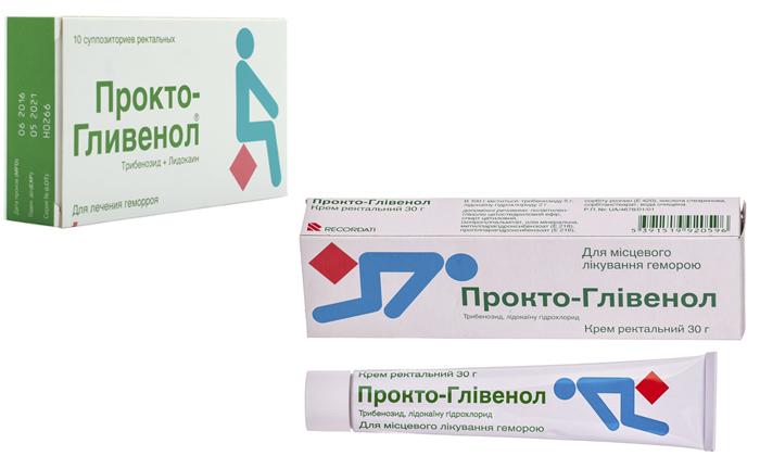 Прокто-Гливенол производят в форме мази и суппозиториев