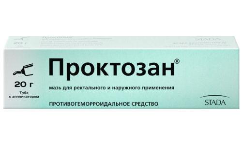 Мазь Проктозан избавляет больных от острых симптомов заболевания
