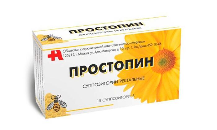 Для борьбы с геморроем, сочетанным с простатитом можно применять Простопин