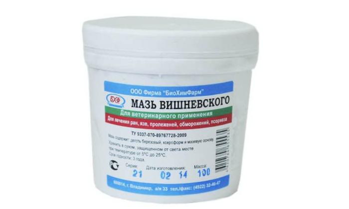 Мазь Вишневского эффективно борется с воспалением и инфицированием геморроидальных узелков, также способствует быстро регенерации тканей