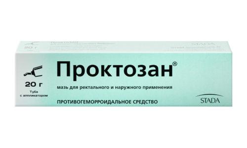 Проктозан - крайне эффективное лекарство при внутреннем геморрое, которое снимает воспаление, утоляет болезненность, дезинфицирует ткани, образует особую плёночку на повреждённых поверхностях, что снижает кровоточивость из узелков