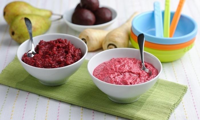 Овощи и фрукты рекомендуется кушать в виде пюре