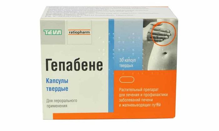 Лечение цирроза печени проводят с помощью препарата Гепабене