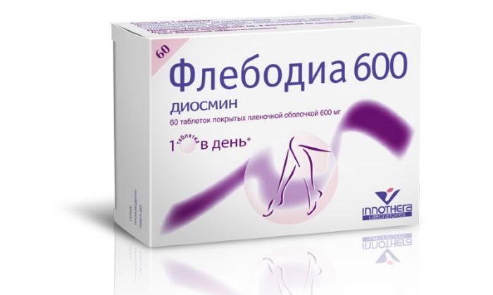 Чаще всего лечение хронического геморроя второй стадии сопровождается употреблением венотоника Флебодиа 600