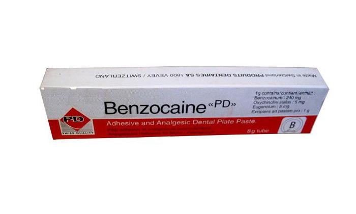 Бензокаин является представителем ряда местных анестетиков