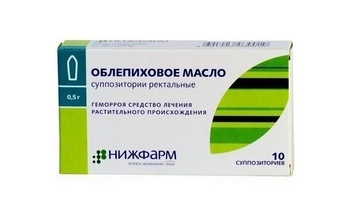 Облепиховые суппозитории применяют в качестве вспомогательных препаратов для терапии геморроидальных шишек