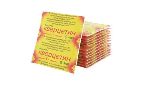 Кверцетин, попадая в ткани, нейтрализует свободные радикалы, которые образуются при окислении липидов и повреждают клеточные компоненты, приводя к их гибели