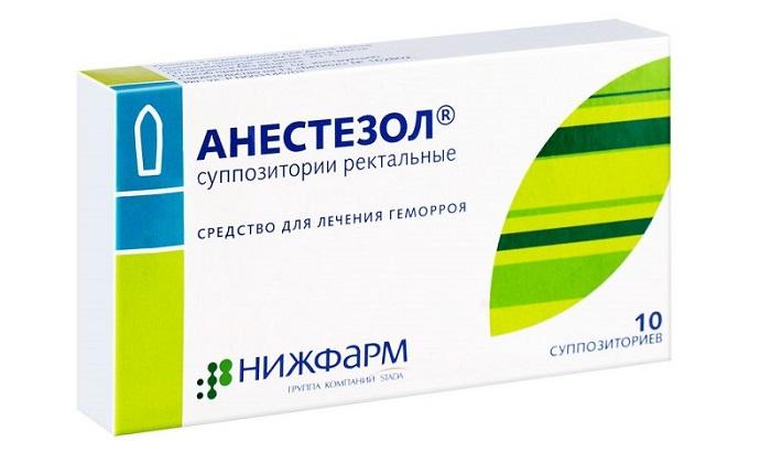 Если тромб образовался внутри прямой кишки, назначают ректальные суппозитории Анестезол (дополнительно снимает болезненность)