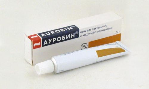 Мазь Ауробин назначают при варикозном расширении геморроидальных вен
