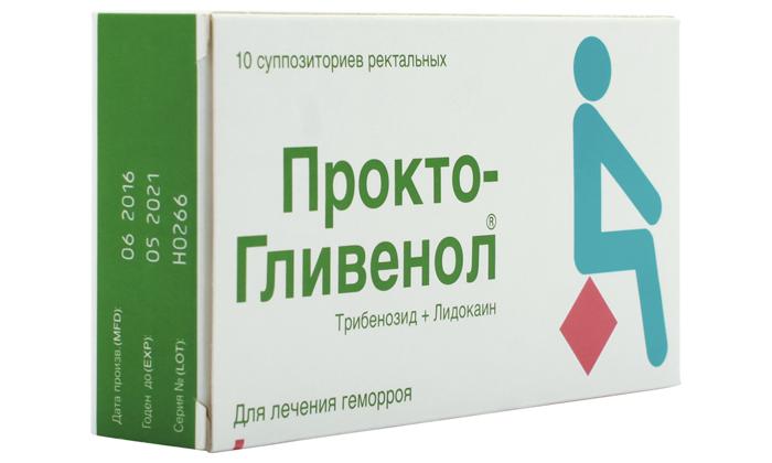 Для лечения чаще выписывают свечи Прокто-Гливенол