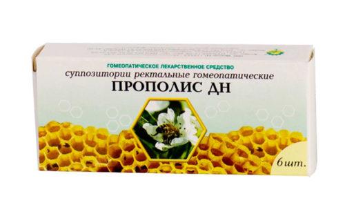 Если нет возможности готовить суппозитории из пчелиного клея, можно приобрести препарат Прополис ДН