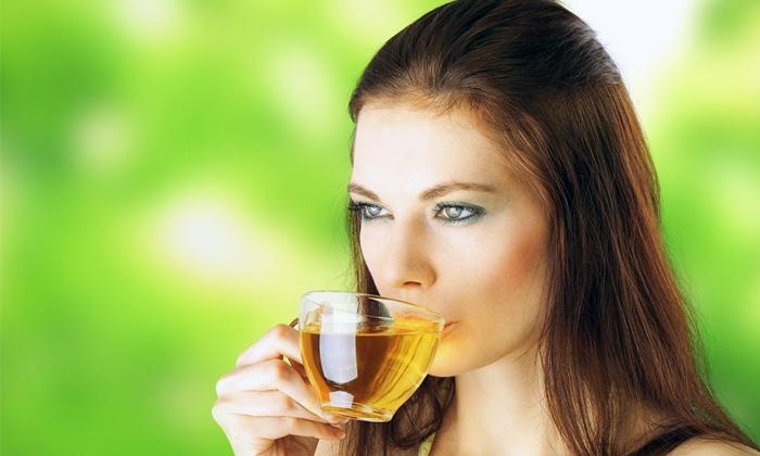 Пить нужно только не крепкий зелёный чай