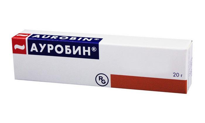 Ауробин гормоносодержащее препарат. Он уменьшает болевой синдром, уничтожает болезнетворные микробы