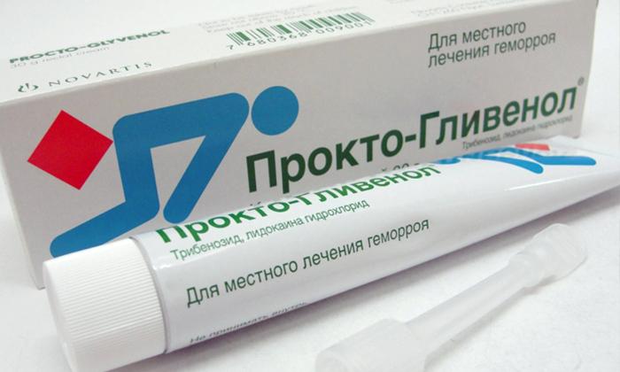 Мазь Прокто-Гливенол назначается пациентам для лечения геморроя внутренней и наружной локализации