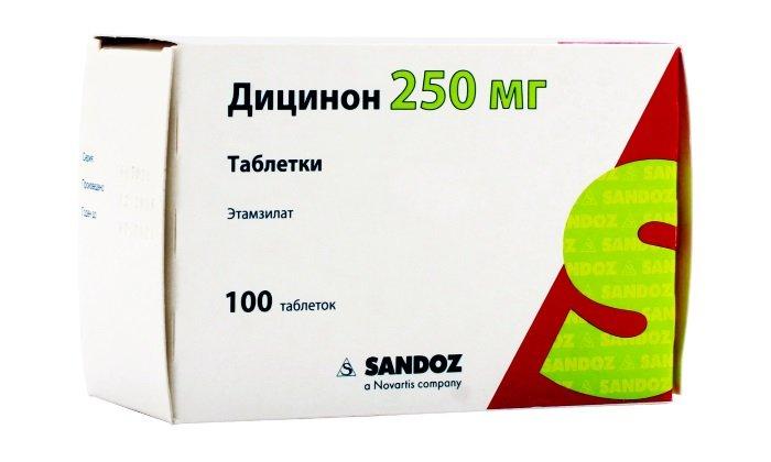 Дицинон препятствует развитию кровотечений при хроническом геморрое