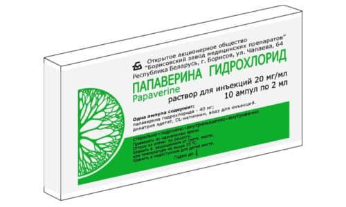 Папаверин способствует улучшению притока крови к пенису