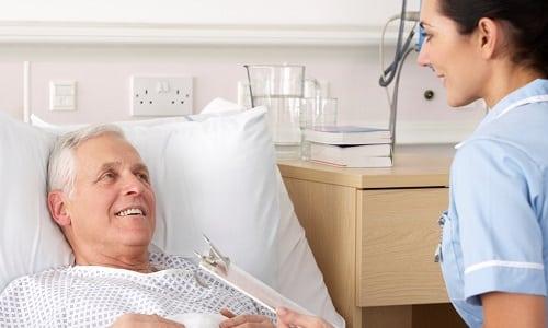 После операции пациент пребывает в стационаре 3-5 дней