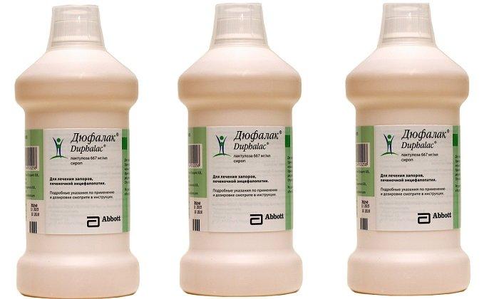 Выпускается препарат Дюфалак в виде сиропа для приема внутрь. Средство смягчает каловые массы, устраняет дисбактериоз и запоры
