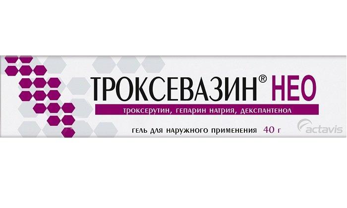 Гель Троксевазин Нео дополнительно содержит гепарин и декспантенол, что обеспечивает регенерирующее, обезболивающее, противотромботическое действие