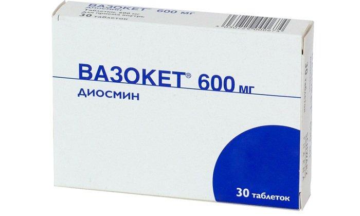 Вазокет - таблетки с венотонизирующим эффектом. Лекарство подходит для лечения геморроя в период обострения