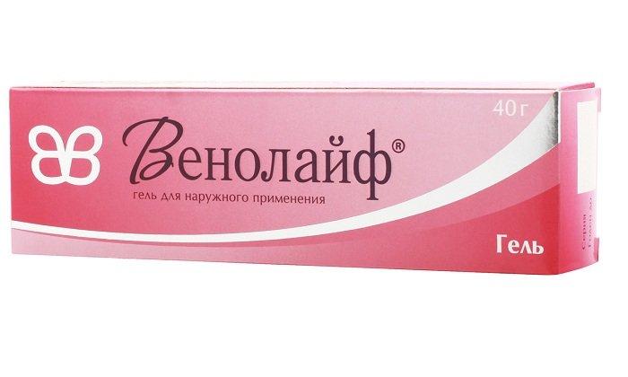 Венолайф - лекарство с декспантенолом, троксерутином и гепарином. Устраняет отечность и проблемы с кровообращением, уменьшает ломкость сосудов