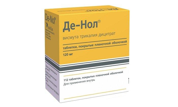 Препарат Де-Нол оказывает противоязвенное, противовоспалительное и антибактериальное действие.