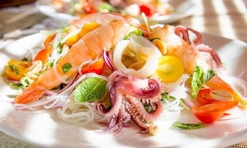 Чтобы разнообразит рацион и избежать потери потенции нужно употреблять морепродукты