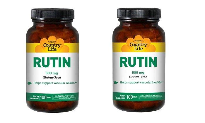 Рутин - ангиопротекторный препарат, уменьшающий проницаемость капилляров и устраняющий недостаток витамина B3