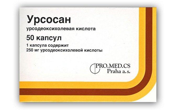 Урсосан относится к гепатопротекторным препаратам, назначается при желчнокаменной болезни, в случае хронического вирусного гепатита, цирроза, рефлюкс-эзофагита