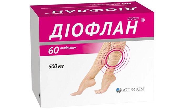 Диофлан оказывает венотоническое действие, снижает проницаемость капилляров, улучшает отток лимфы