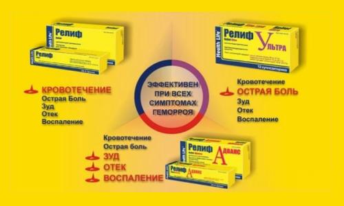 В зависимости от формы препараты содержат различное количество фенилэфрина. Вспомогательное вещество, представленное маслом акульей печени, присутствует как в мази, так и в суппозиториях, но в свечах его в 2 раза больше