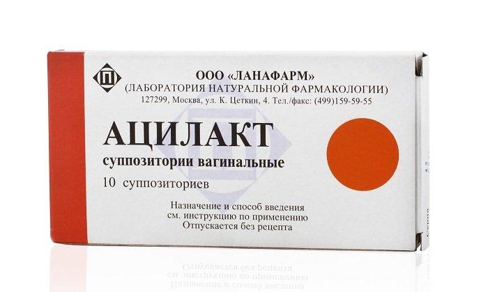 Ацилакт производится в виде суппозиториев. Действующее вещество - живые ацидофильные лактобактерии. Препарат предназначен для введения вагинально