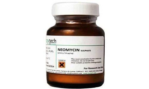 Антибактериальная субстанция неомицина сульфат (на латинском языке - Neomycin) - это сочетание антибиотиков: неомицинов А, В и С