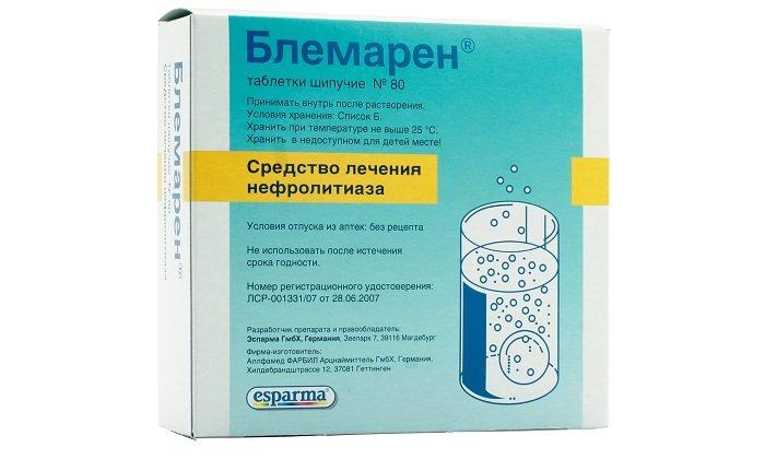 Блемарен представлен в виде таблеток и включает в свой состав цитрат. Показан в тех случаях, когда у пациента обнаружены заболевания органов мочевыделительной системы