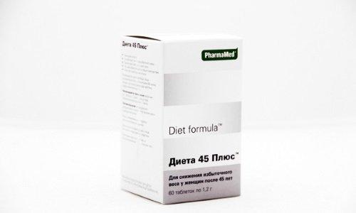 Диета 45 плюс рекомендуется к приему женщинам в период менопаузы для снижения риска ожирения