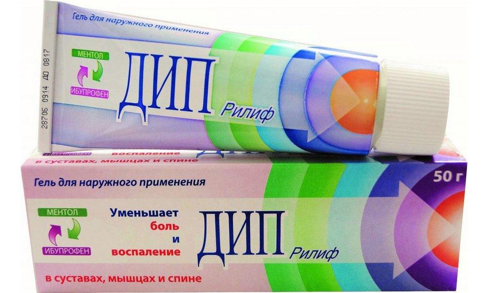 Терапевтический эффект Дип Релифа достигается благодаря действующим веществам - ибупрофену и левоментолу