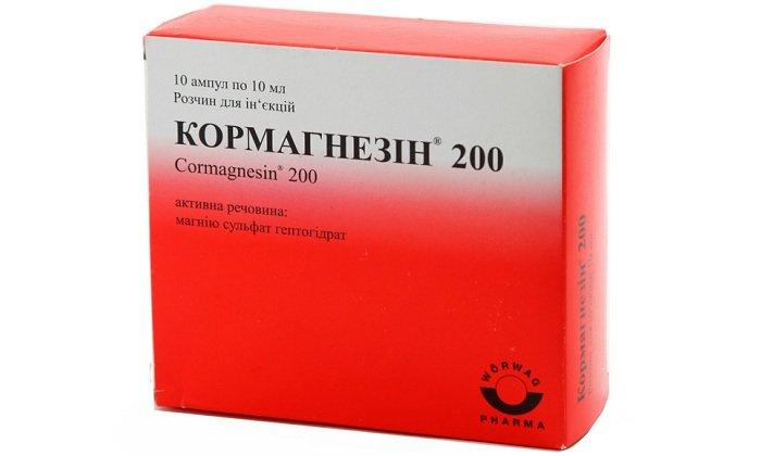 Кормагнезин — оказывает мочегонное, противосудорожное, снотворное действие