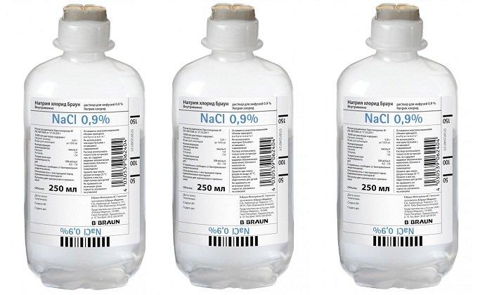 Пластиковые флаконы-капельницы с NaCl выпускаются по 100, 200, 400, 500, 1000, 3000 мл с герметичной пломбой