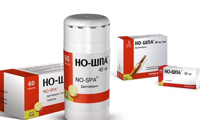 Но-шпа - наиболее часто используемый аналог лекарства