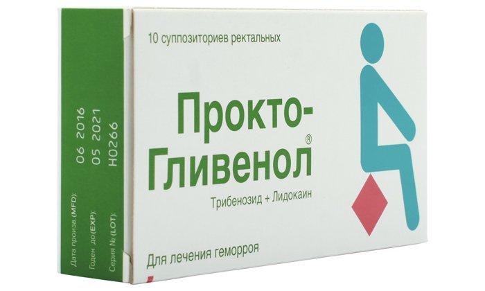 Прокто-Гливенол - противогеморроидальный препарат в виде крема и ректальных свечей