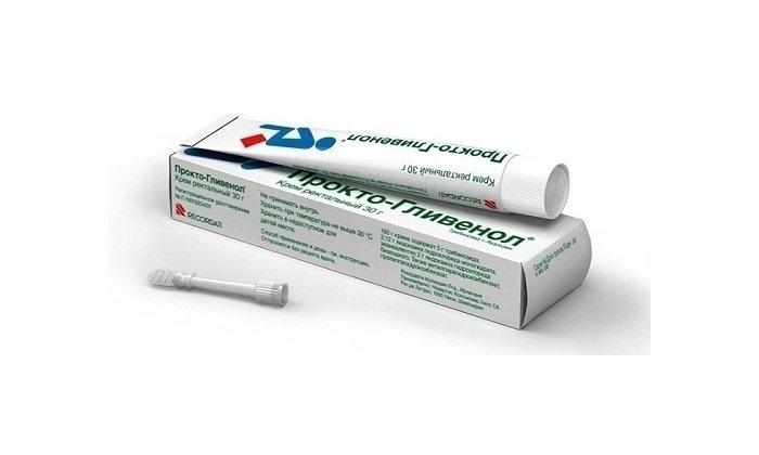 Мазь Прокто-Гливенол считается комбинированным противогеморроидальным препаратом